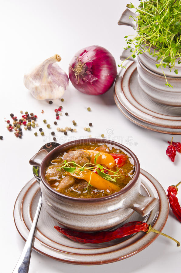 Download Goulash soup stock photo. Image of cuisine, meal, sauce - 22542404