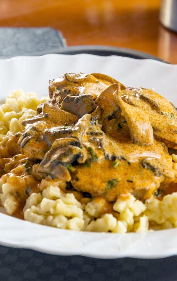 Goulash tipycal hungarian food stock photography