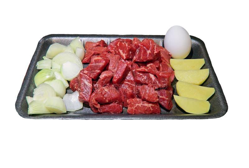 Goulash on a tray stock photo