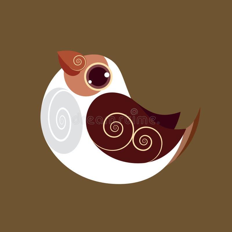 Gouldian finch ptasi abstrakcjonistyczny prehistoryczny kolor ilustracji