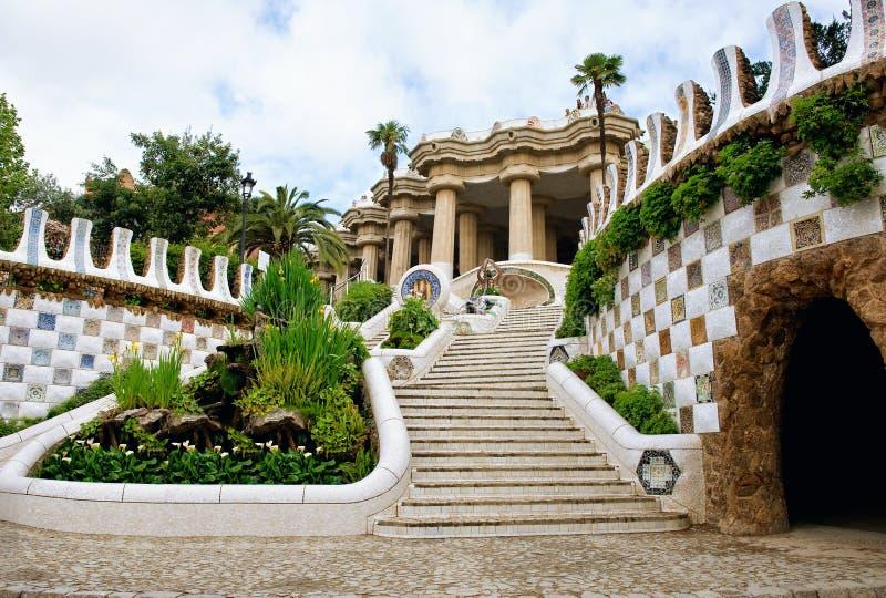 Goulepark in Barcelona Treden royalty-vrije stock afbeelding