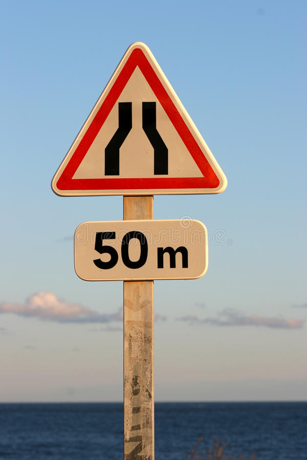 Goulot - roadsign photo stock