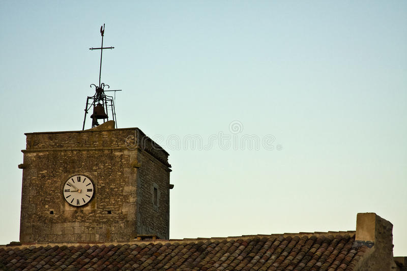 Goult's Church. Top of the ancient church in Goult, France stock photos