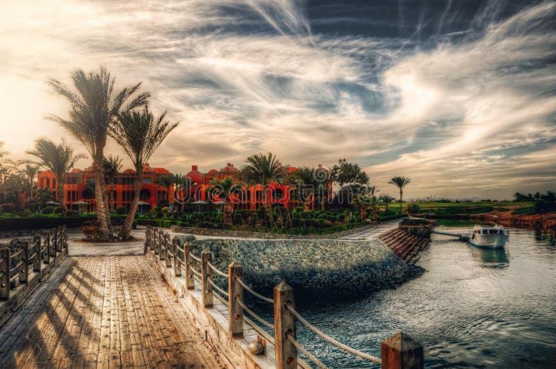 Gouna in Ägypten lizenzfreie stockfotografie