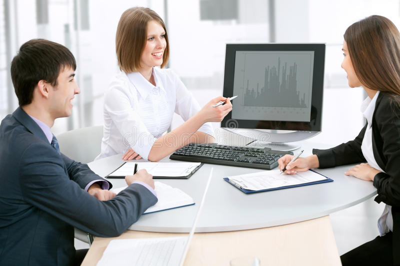 Goup of business people stock photo