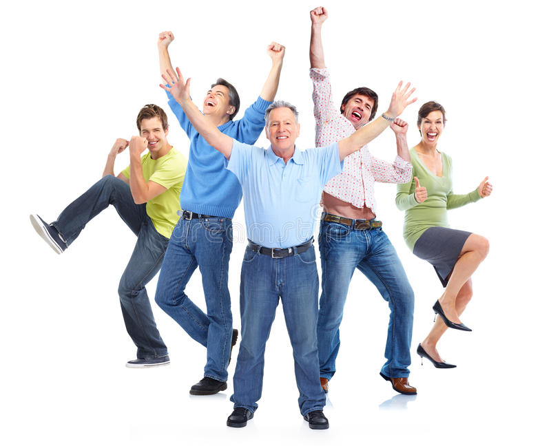 Goup of happy people stock image