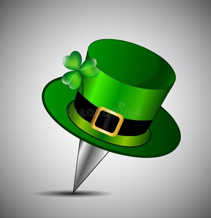 Goupille de poussée du jour de St Patrick illustration stock