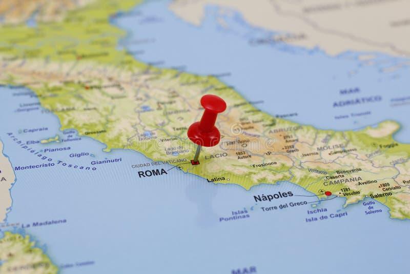 Goupille de Roma dans une carte photo libre de droits