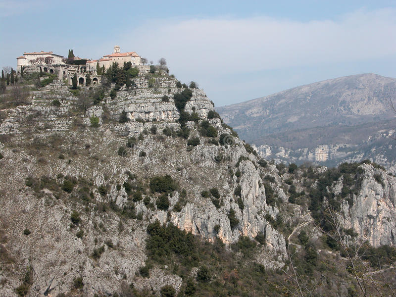 Gourdon hill village in Provence royalty free stock photos