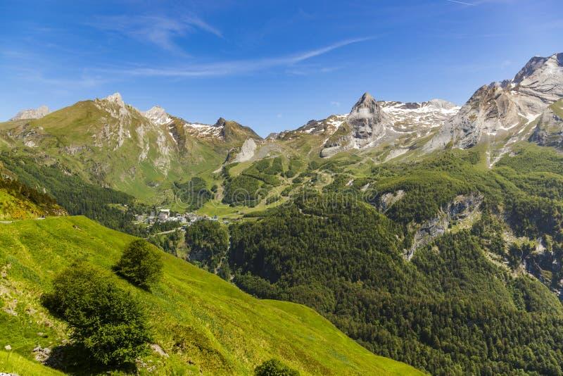 Gourette в французских Пиренеи стоковое изображение