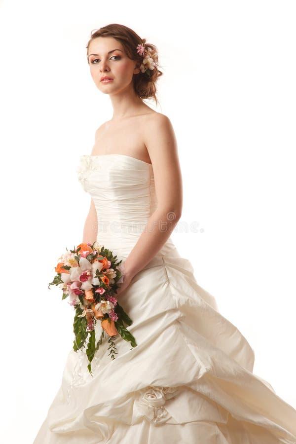 Gourgeus klasyczna panna młoda zdjęcie royalty free