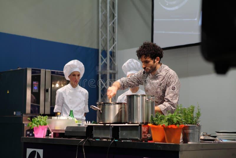 GourmArte - Bergamo mässa, Italien 2017 royaltyfria foton