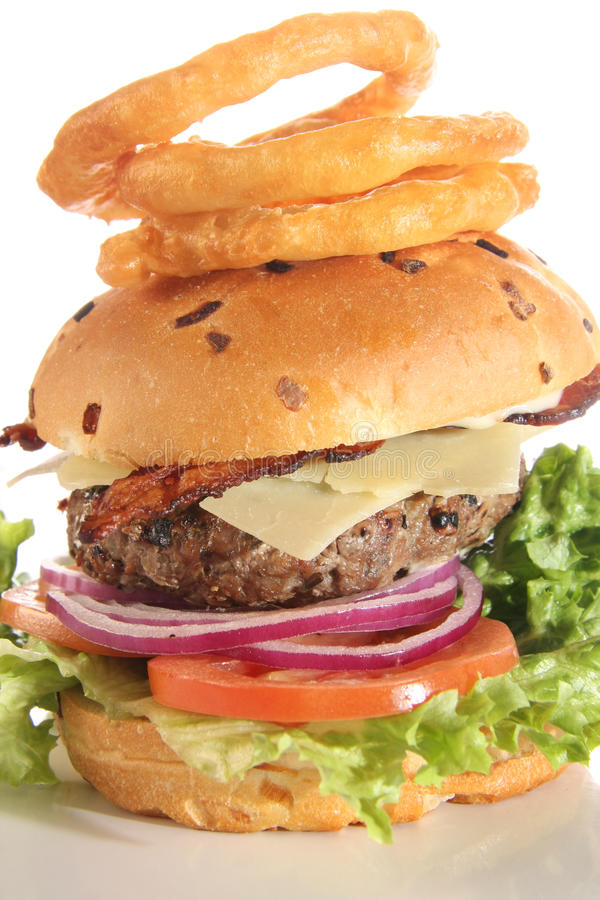 Download Gourmet cheese burger stock image. Image of tomato, onion - 13093205
