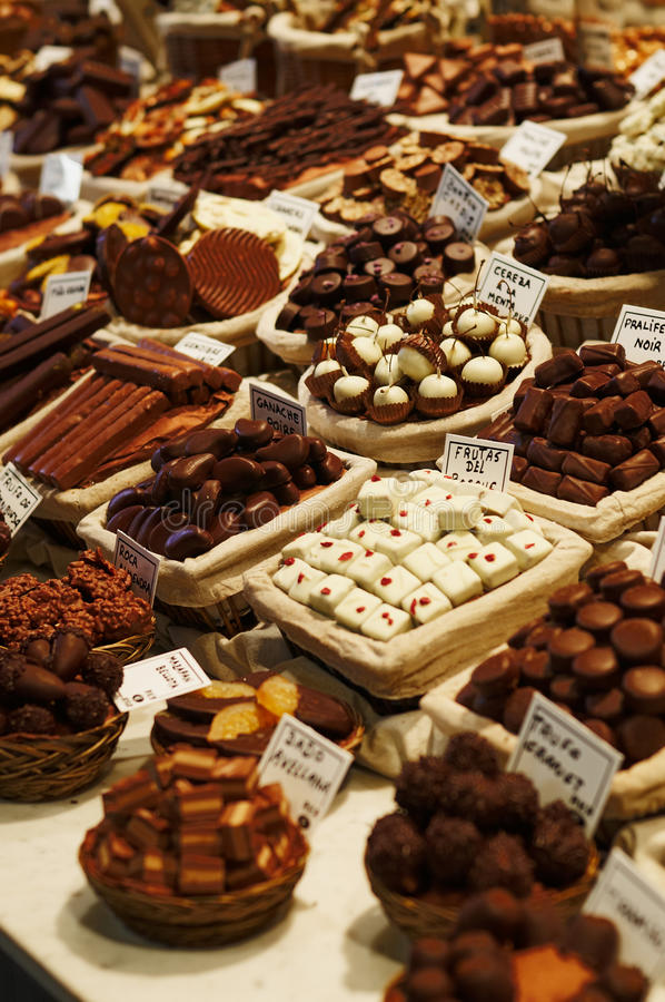 Download Gourmet chocolates stock photo. Image of catalonia, selective - 12190004