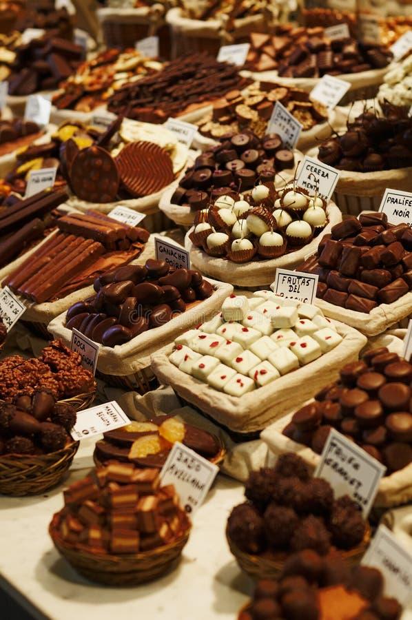 gourmet- choklader arkivbilder