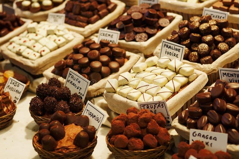 gourmet- choklader royaltyfri bild