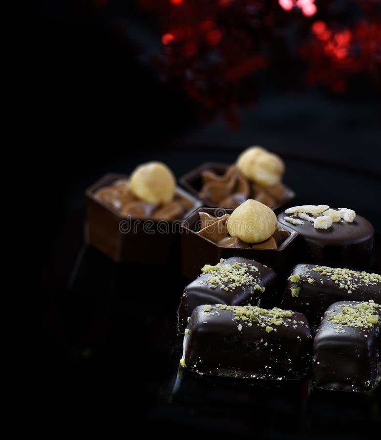 gourmet- choklader arkivfoto