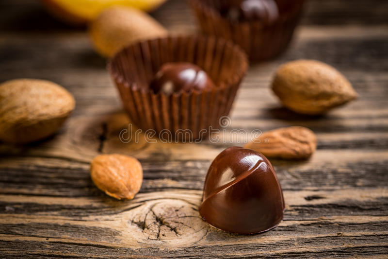 Gourmet- chokladkonfektar royaltyfria bilder