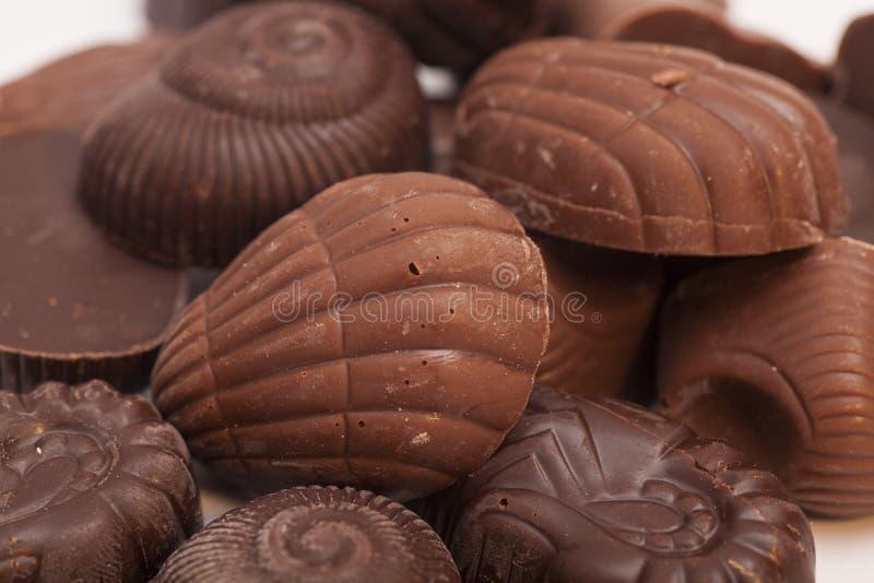 Gourmet- chokladkonfektbakgrund royaltyfri fotografi