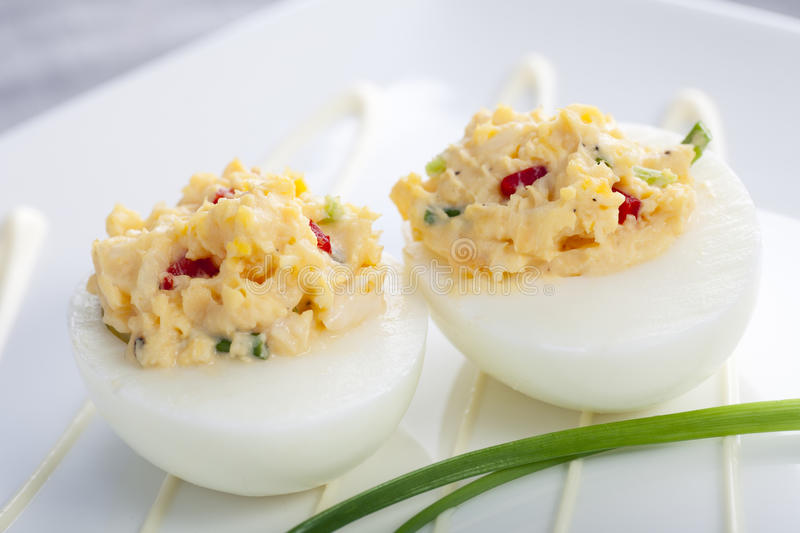 Gourmet Deviled Eggs royalty free stock image