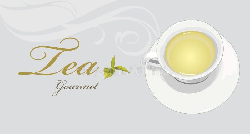 Gourmet do chá Etiqueta para o projeto ilustração do vetor