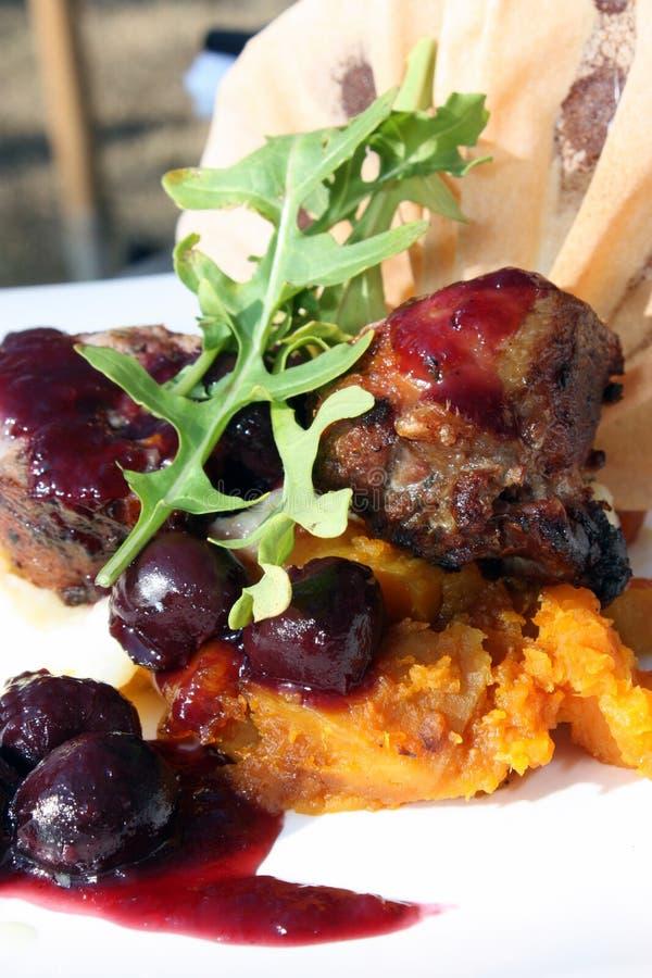 Download Gourmet Duck and Cherries stock photo. Image of juicy - 22246794