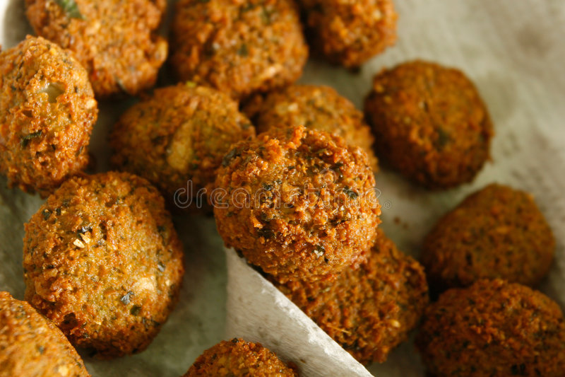 Gourmet falafel. Famous middle eastern dish, with a stylish twist royalty free stock images