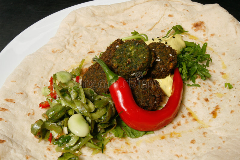 Gourmet falafel. Famous middle eastern dish, with a stylish twist royalty free stock photos