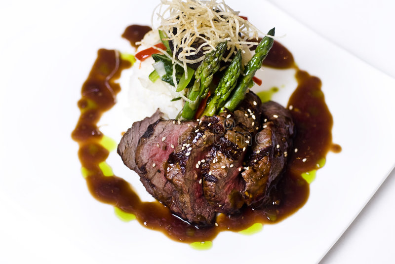 Gourmet fillet mignon steak stock images