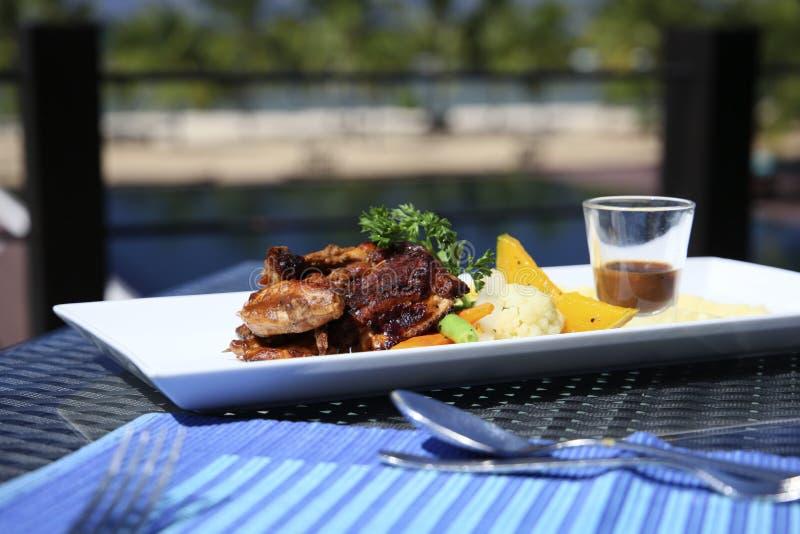 Gourmet food. Gourmet cuisine in the Sri Lanka hotel is 5 stars royalty free stock image