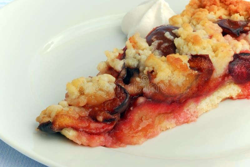 Gourmet fruit cake - plum cake royalty free stock image