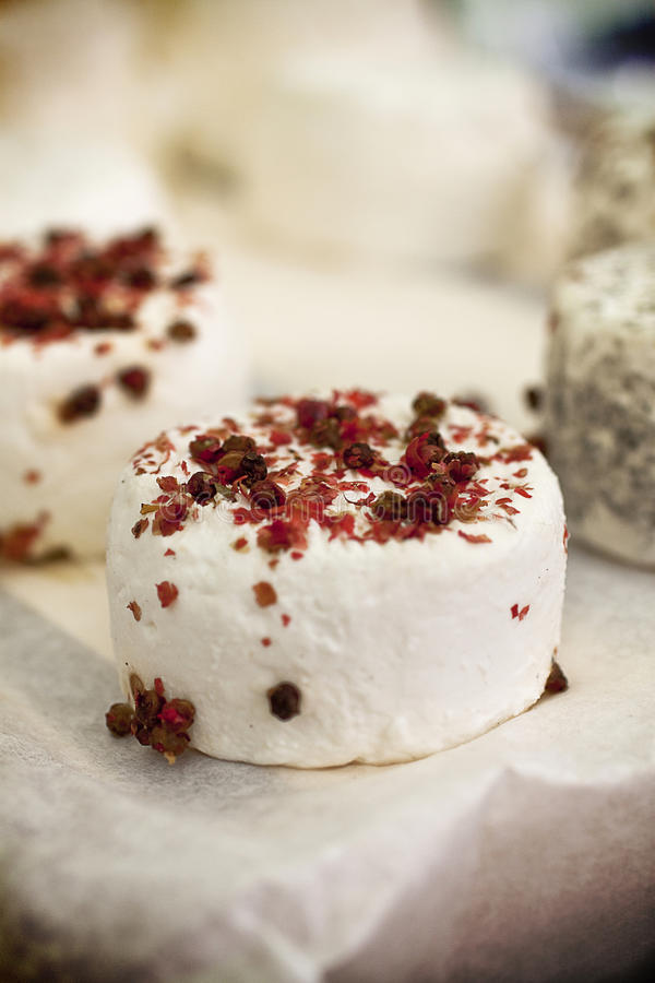 Gourmet goat cheese royalty free stock photos