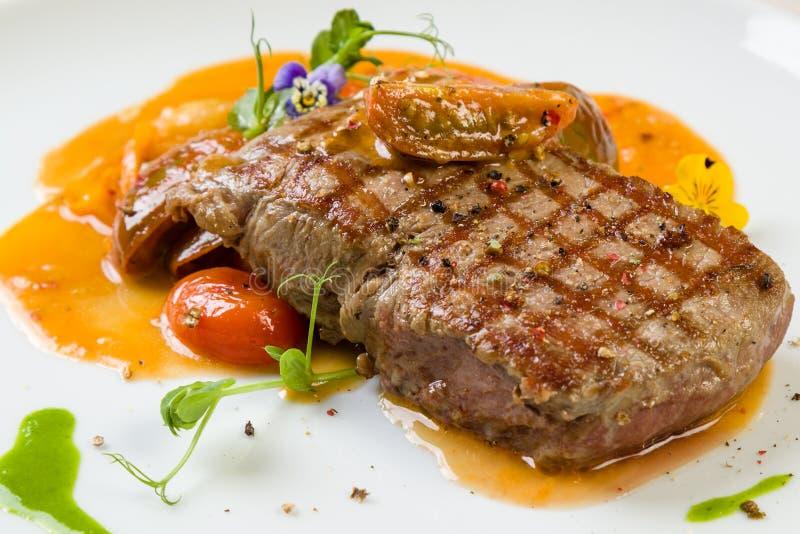 Download Beef steak entrecote stock image. Image of roast, black - 104837195