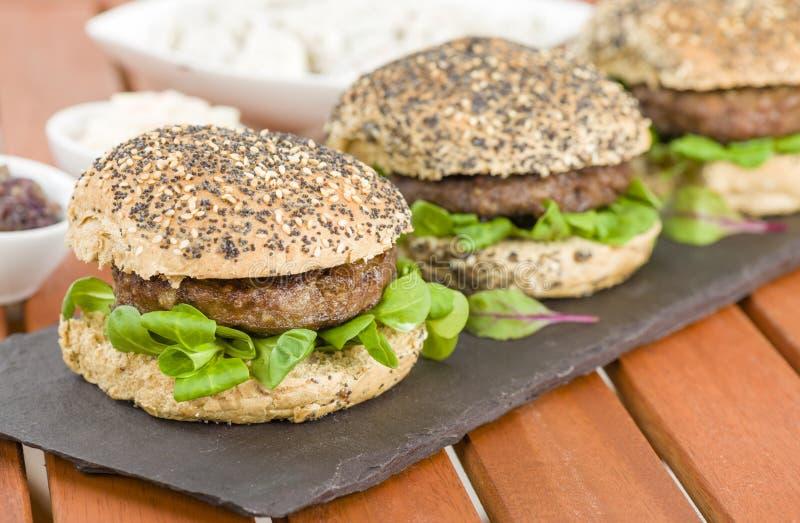 Gourmet- hamburgare royaltyfri foto
