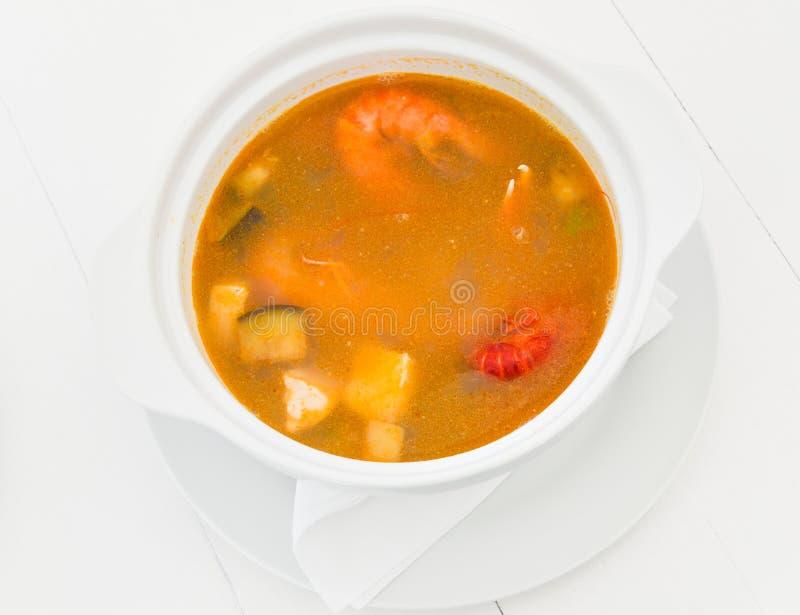 Gourmet- havs- soppa arkivbilder