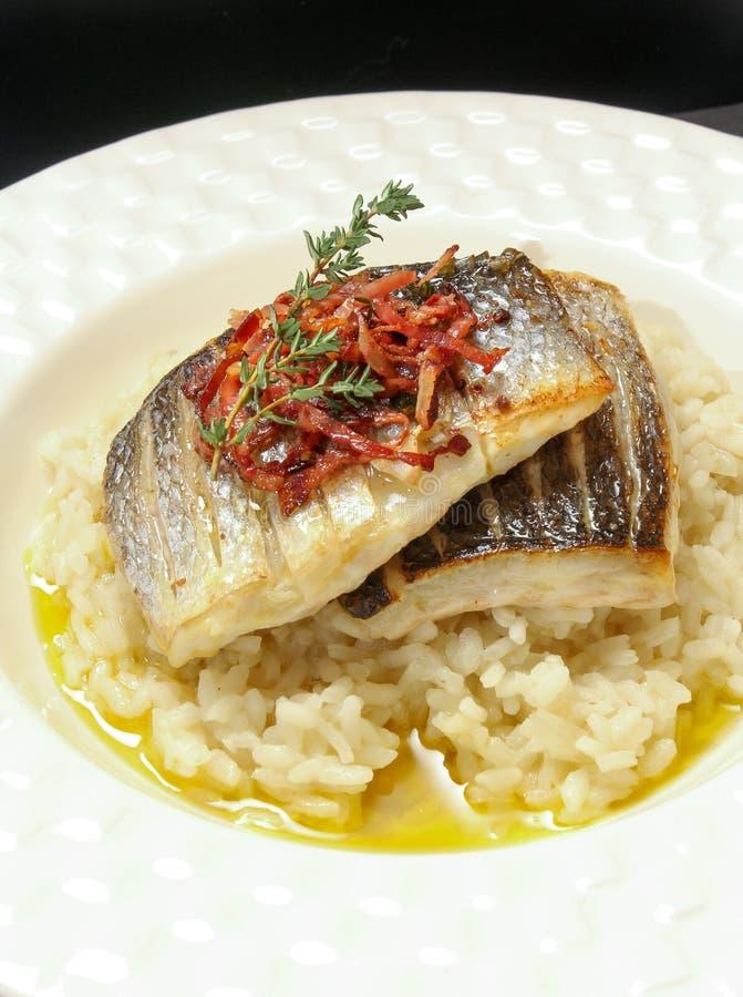 Gourmet- matställe för ny fisk - materielbild arkivfoto