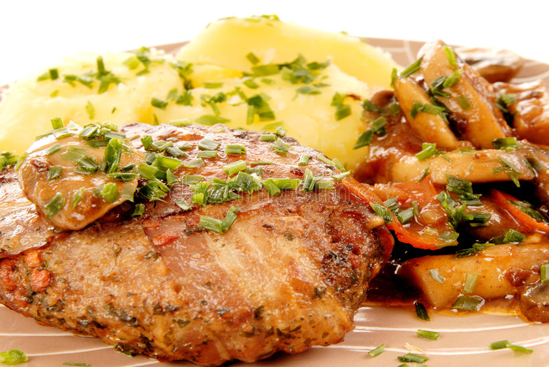 Gourmet meal royalty free stock photography