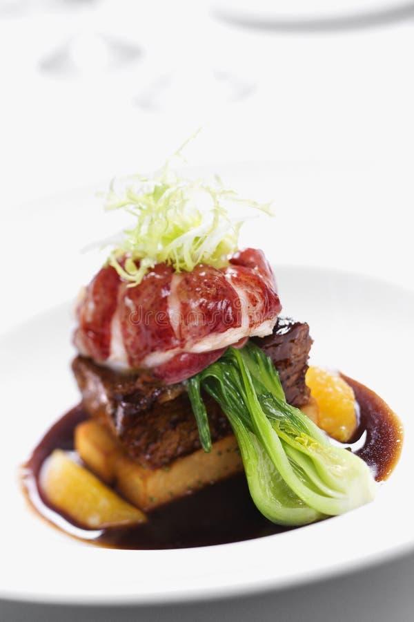 Gourmet meal still life. royalty free stock photos