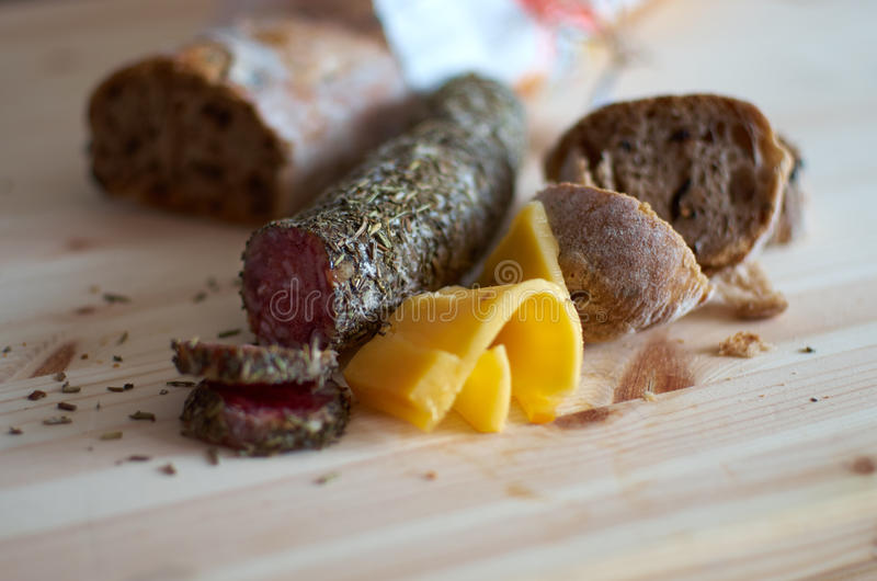 gourmet- mellanmål arkivbild