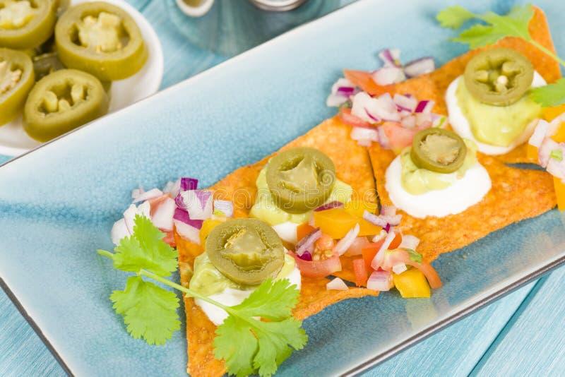 Gourmet Nachos royalty free stock photos