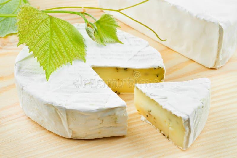 Gourmet- ost och druvor arkivbilder