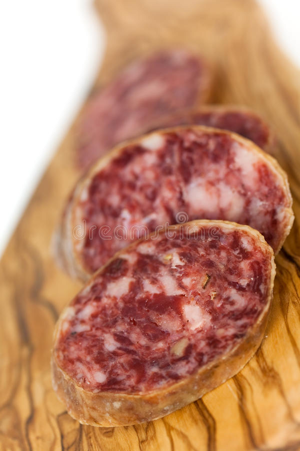 Download Gourmet Pepper Salami With Garlic Royalty Free Stock Photography - Image: 12833757