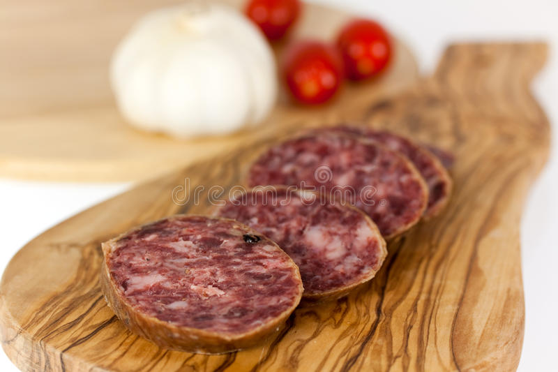 Download Gourmet Pepper Salami With Garlic Stock Images - Image: 12833764