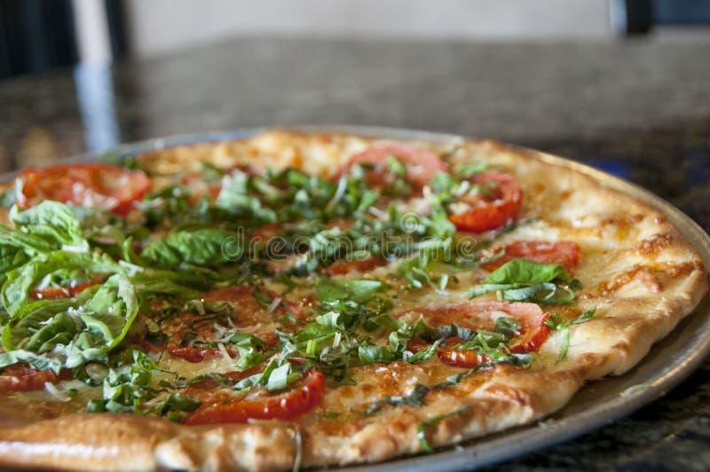 Gourmet- pizza fotografering för bildbyråer