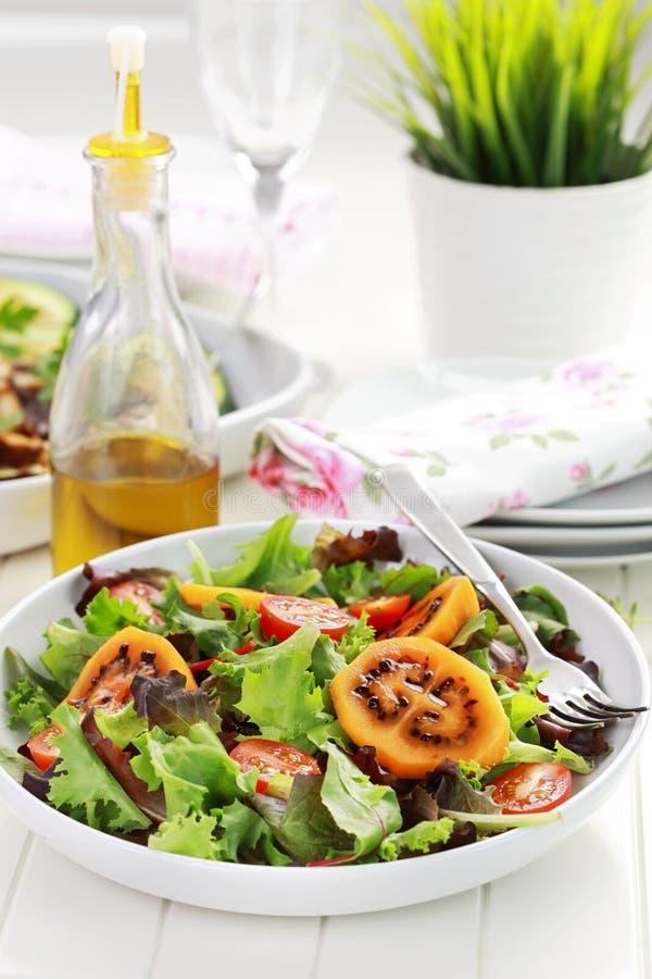 Gourmet- sallad med tamarillos royaltyfri fotografi