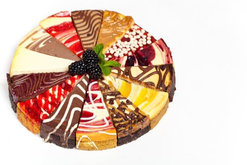 Gourmet Sampler Cheesecake royalty free stock photography