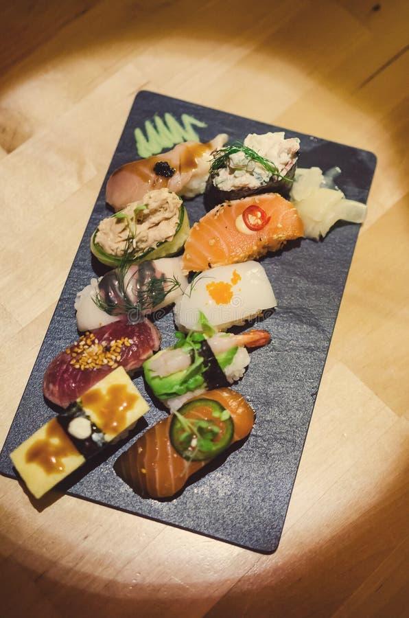Gourmet sushi selection royalty free stock photos