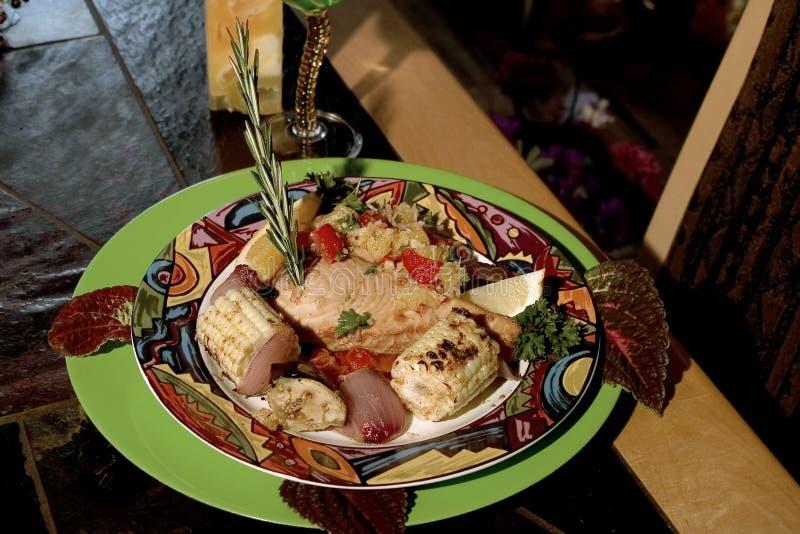 Download Gourmet Swordfish And Grilled Vegies Stock Image - Image: 187611