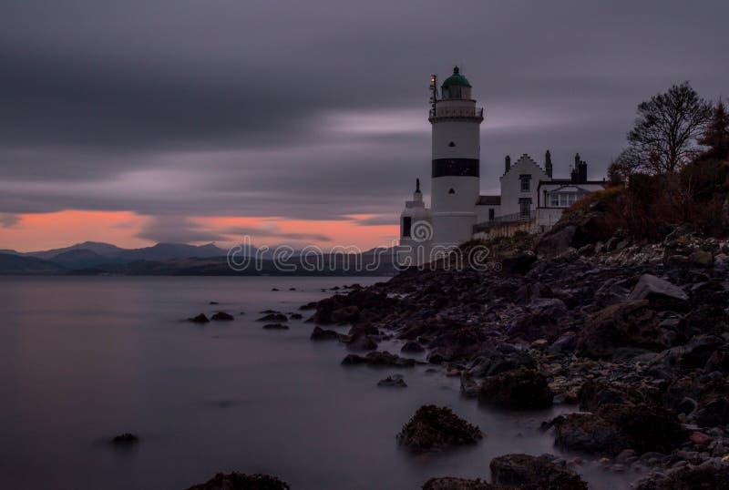 Gourock Шотландия маяка Cloch стоковое фото