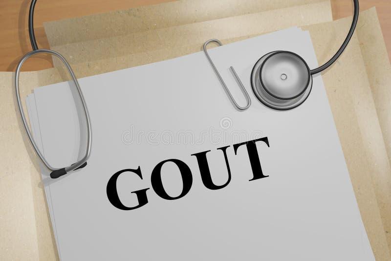 GOUT - ιατρική έννοια διανυσματική απεικόνιση